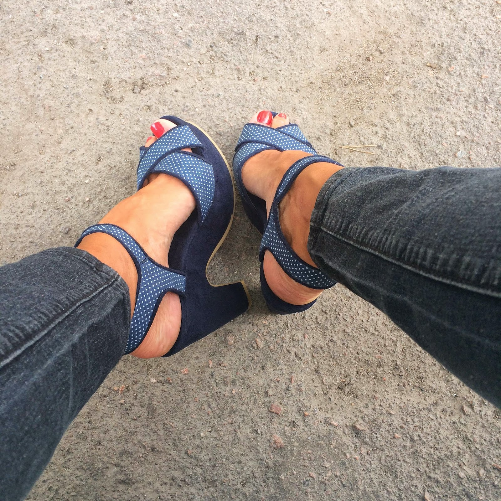 vox shoes blue block heeled sandals
