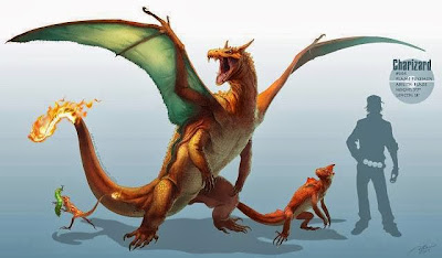 Charizard, charmander y charmeleon- pokemon- pokemon reales- pokemon en la vida real- pokemon origin-