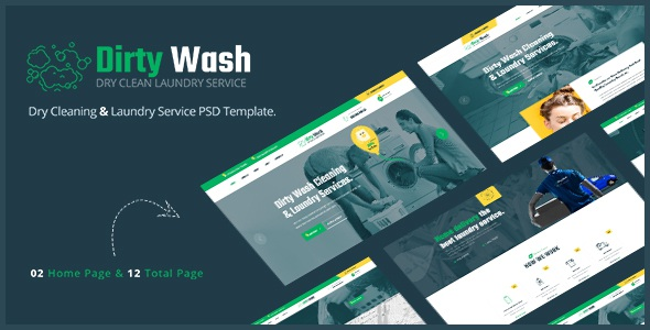 Dry Cleaning & Laundry Service PSD Template