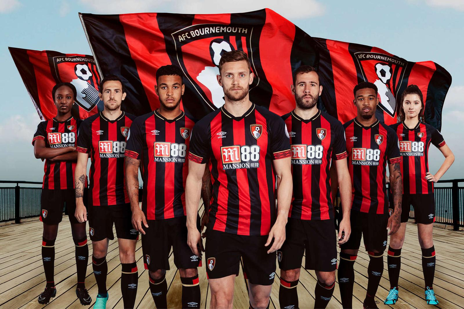 f10419acd Bournemouth 18-19 Home Kit Revealed - Footy Headlines