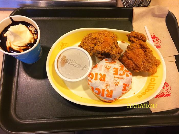就是要笑哈哈LOL!: 【美食】必吃Jollibee速食餐聽。類似肯德基KFC招牌炸雞。菲律賓怡朗旅遊