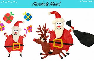 Atividade Natal para Educação Infantil BNCC com Papai Noel