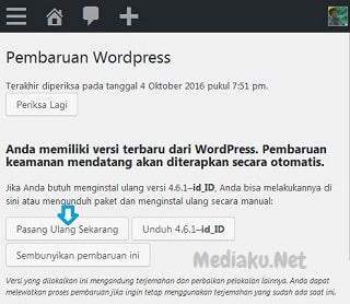 Cara Instal Ulang Blog WordPress Lewat HP