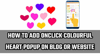 onclick colourfull heart popup