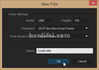Cara membuat credit title di adobe premiere pro cc - beri nama credit title