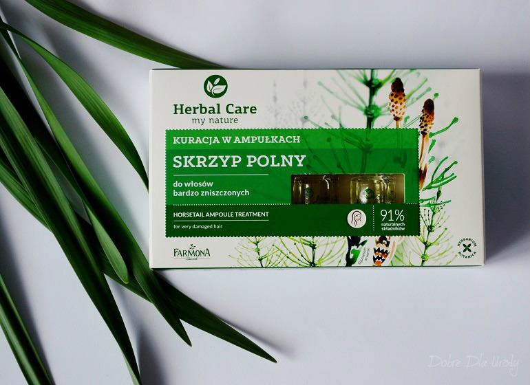 Farmona Herbal Care ampułki do włosów bardzo zniszczonych - przeciw wypadaniu
