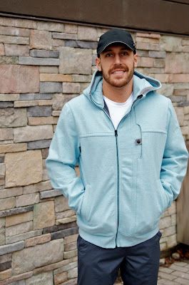 lululemon mens west coast hoodie heathered baby blue