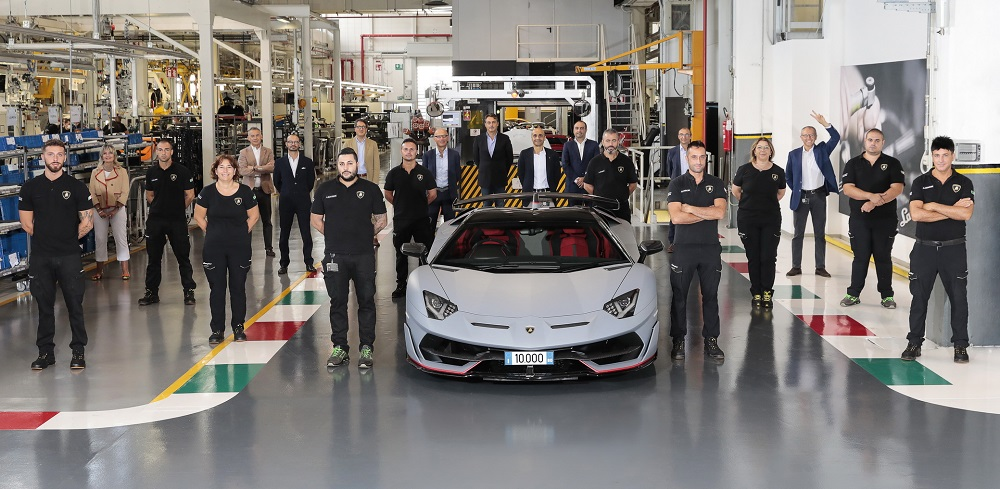 Lamborghini celebrates the 10,000th Aventador