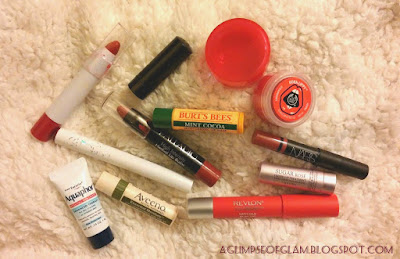 The Lip Product Tag aglimpseofglam.blogspot.com Andrea Tiffany