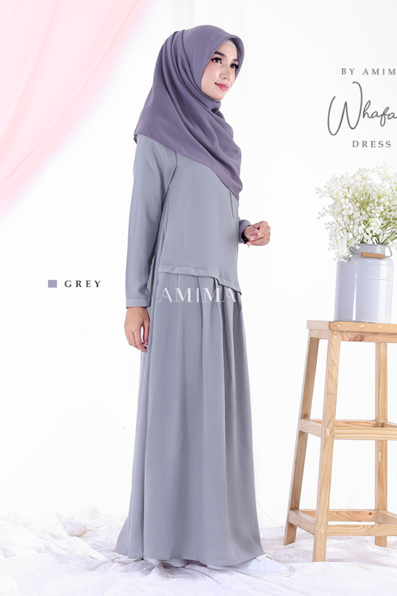 Trend baju lebaran terbaru Gamis Ruffle Wafha Dress