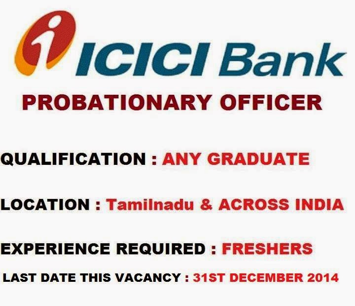 icici bank recruitment for 2014