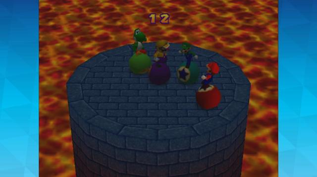 Nintendo World Championships 2017 Mario Party 2 Bumper Balls lava draw Wario Luigi Yoshi