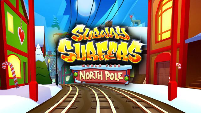 Subway Surfers World Tour to the North Pole is here. Help Jake, Tricky & Fresh escape from the grumpy Inspector and his dog. Subway Surfers is by Kiloo.