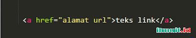 Cara membuat Link pada HTML (tag a)