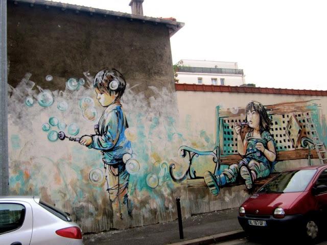 Рисунки на стенах. Alice Pasquini 16