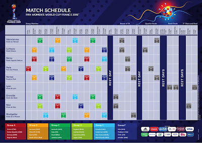 Printable FIFA Women's World Cup 2019 Schedule PDF