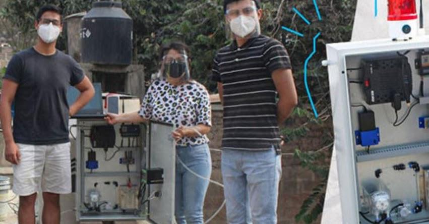 UTEC: Ingenieros crean sistema de bajo costo que detecta niveles anormales de cloro en el agua