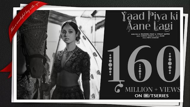 Yaad Piya Ki Aane Lagi lyrics || Neha kakkar new song 2020