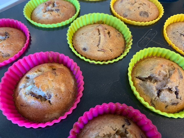 Apple & Sultana muffins in their cases