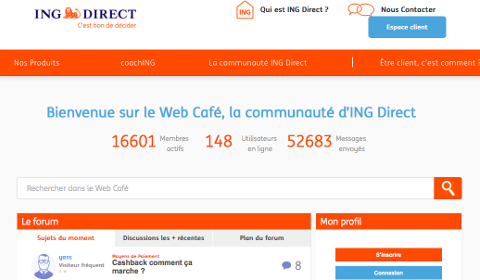 Web Café ING Direct