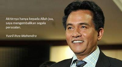 Yusril Ucapkan Terimah Kasih dan Permohonan Maaf Kepada Rakyat Jakarta