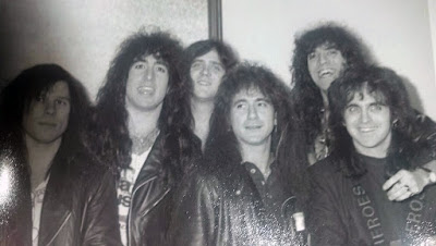 Prophet and TT Quick!! What a great photo from around the 1989 dayz. Scott Metaxas, Ken Dubman, Dave DiPietro, Mark Tornillo, Russell Arcara, Glen Burtnik. The nights when they all ended up on the stage together jamming were just SO amazing. We were really lucky to be at the right age... at the right time... to be around all of this talent! Too fuckin' cool! Great memories for sure!!