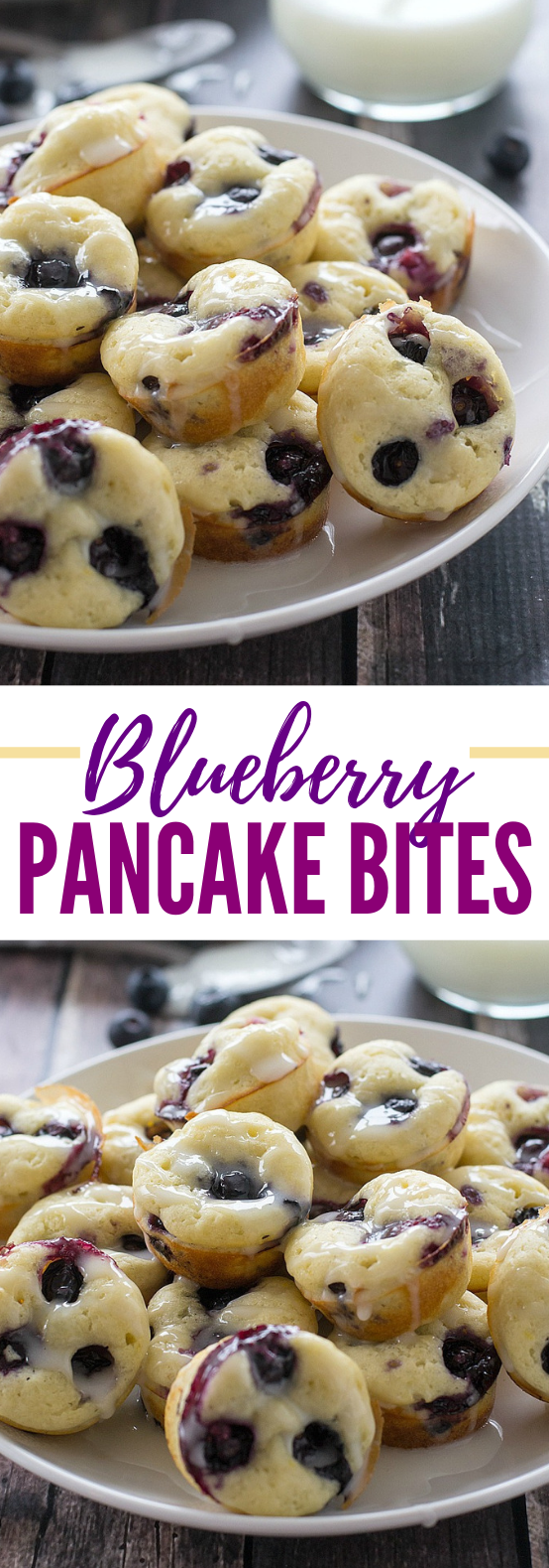 BLUEBERRY PANCAKE BITES #desserts #freezerfriendly
