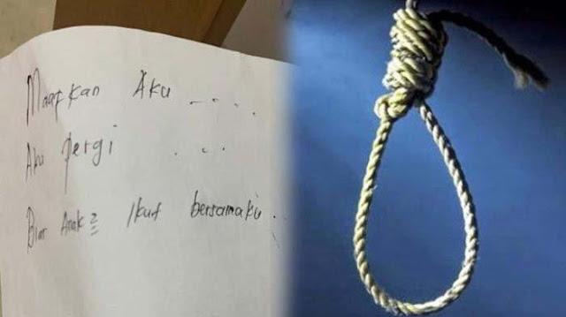 Ibu Muda Gantung Diri dan Bunuh 2 Anaknya, Suami Syok Temukan Sepucuk Surat : Maafkan Aku Pergi