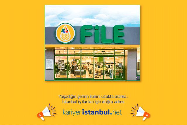 File Market İstanbul Avrupa Yakası ve Anadolu Yakası'nda engelli mağaza personeli alımı yapacak. Detaylar kariyeristanbul.net'te!