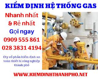 Quy trình kiểm định hệ thống gas