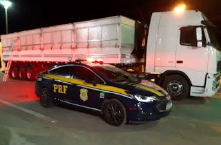 PRF flagra motorista de caminhão com arma de fogo na Chapada Diamantina