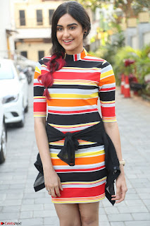 Adha Sharma in a Cute Colorful Jumpsuit Styled By Manasi Aggarwal Promoting movie Commando 2 (7).JPG