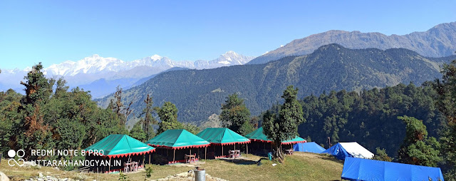 camping destination in chopta