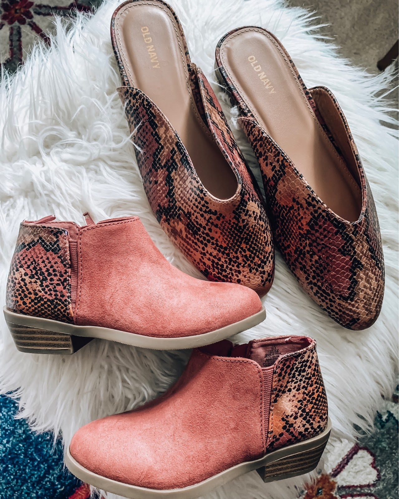 Old Navy Mommy and Me Snake Print Shoes - Somethig Delightful Blog #affordablefashion