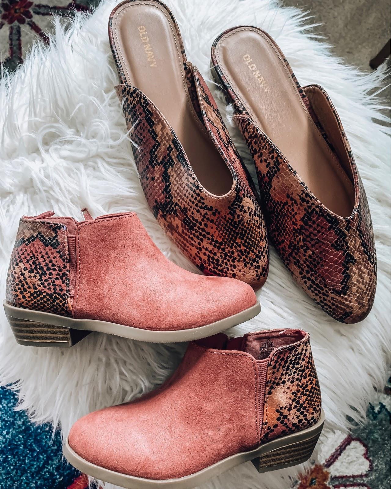 Old Navy Mommy and Me Snake Print Shoes - Somethig Delightful Blog #affordablefashion