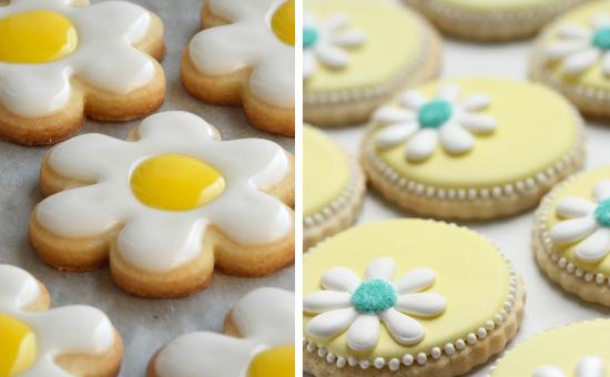 daisies wedding cookies