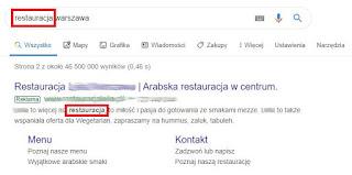 Podkreślanie słowa kluczowego w wyszukiwarce