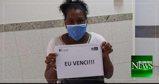 Moradora de Belford Roxo vence o coronavírus e recebe alta após 28 dias internada