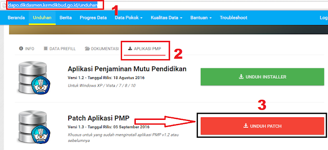 gambar cara Unduh Patch Aplikasi PMP Versi 1.3