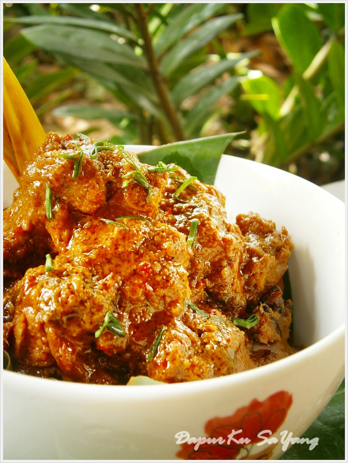 dapurku sayang rendang ayam rindunya nak blogging semula Resepi Rendang Ayam Negeri Melaka Enak dan Mudah
