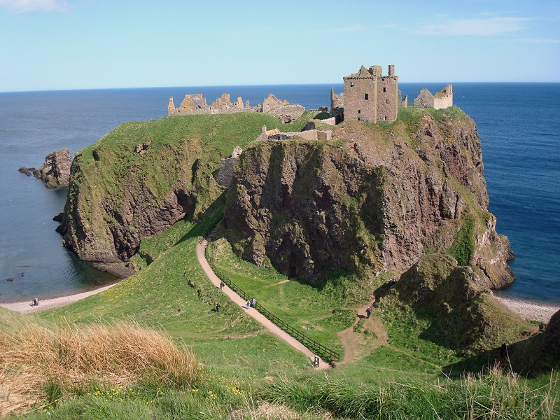 Dunnottar Castle, Scotland - The Most Photogenic Ruined Fortress that Is Located on the Top of a Cliff