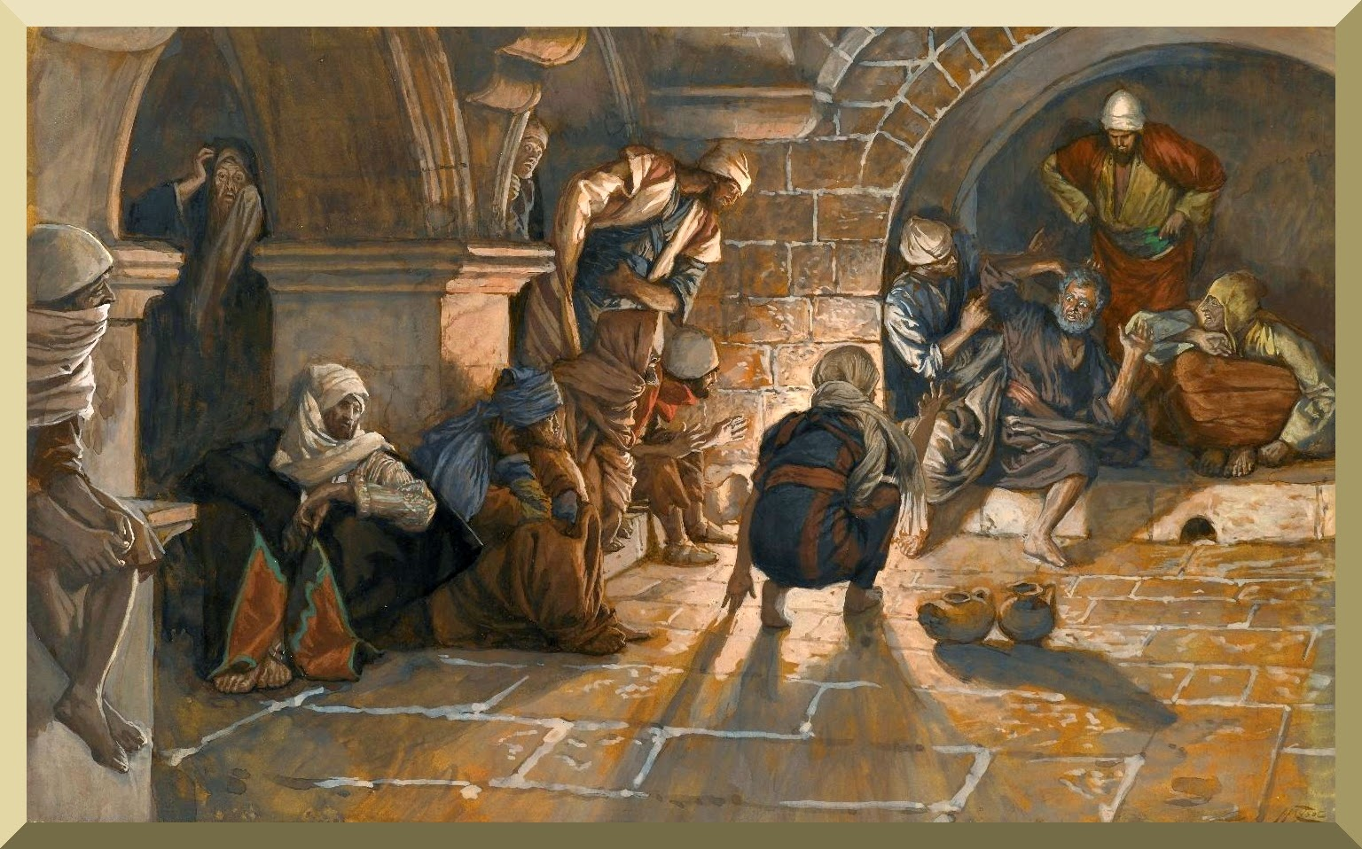 """The Second Denial of Saint Peter"" -- by James Tissot"