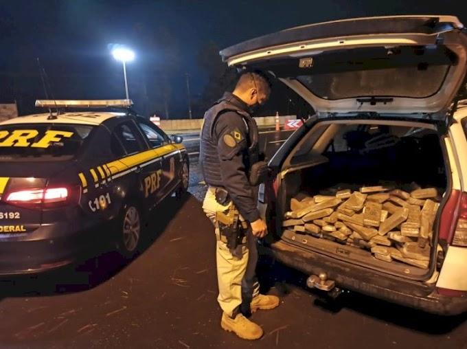 PRF prende traficante com 145 kg de maconha após fuga e perseguição em Laranjeiras do Sul