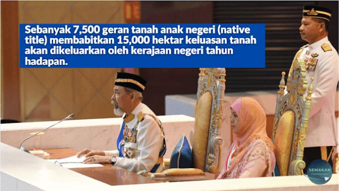 SABAH: Pengeluaran geran tanah akan diteruskan melalui Program Khas Pengukuran Tanah Anak Negeri (PANTAS)