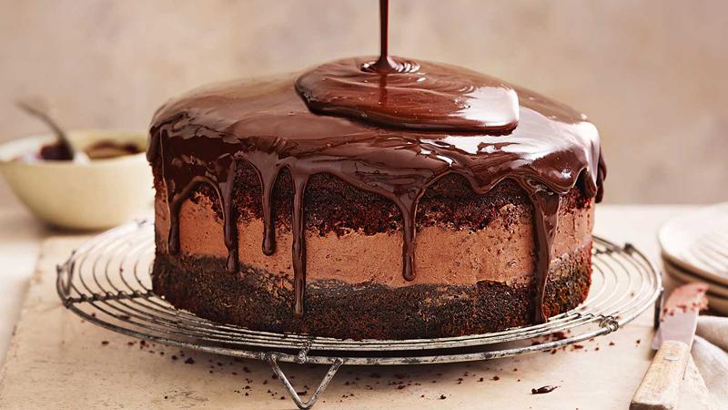 Triple-Chocolate Cake
