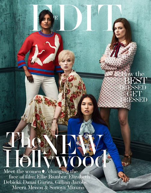 The New Hollywood - With the help of Gucci's Creative Director, Alessandro Michele, The Edit Magazine chose six of 2016's most exciting names; Gillian Jacobs, Sonoya Mizuno, Elizabeth Debicki, Meera Menon, Ellie Bamber, Danai Gurira whom poses in for Bjron Iooss for the May 12th issue of The Edit Magazine. Styling by Tracy Taylor, Art Direction by Gemma Stark, Hair by Johnnie Sapong, Navisha Johnson & Braydon Nelson, Make-Up by Mai Quyhn & Yacine Diallo, Set Design by Bette Adams.