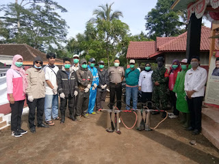 TNI Kodim 0622 Sukabumi Lakukan Penyemprotan Di Seluruh Wilayah Sekabupaten Sukabumi