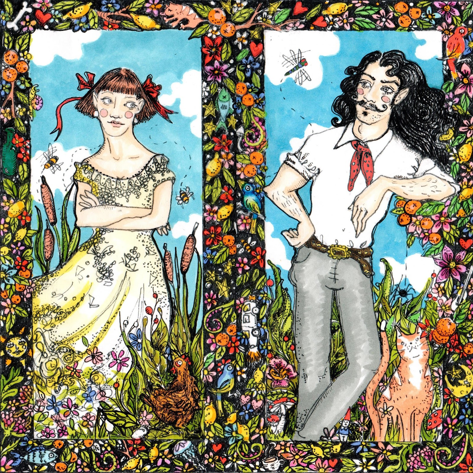 Wedding Invite Bespoke Custom Illustration Artwork