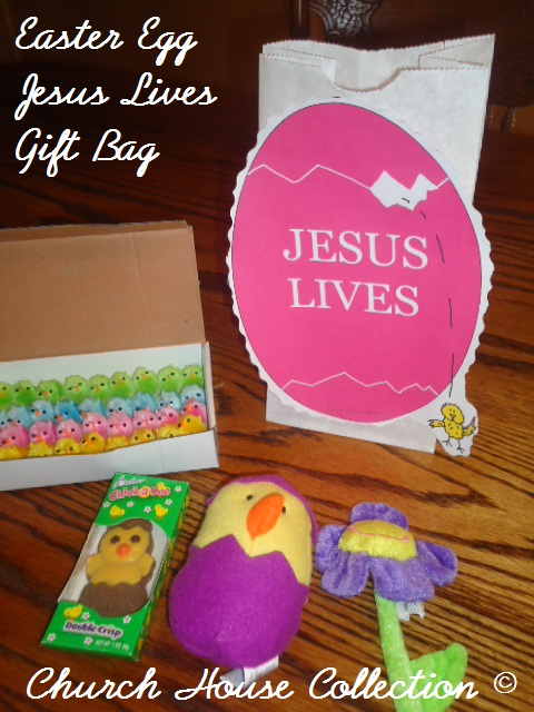 Church house collection blog easter egg jesus lives gift bag for kids easter see all negle Choice Image