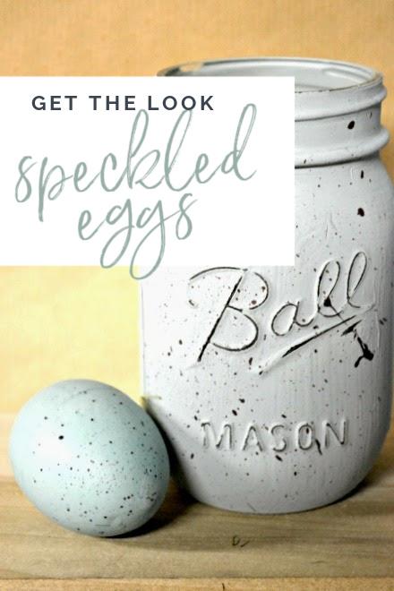 speckled egg mason jars
